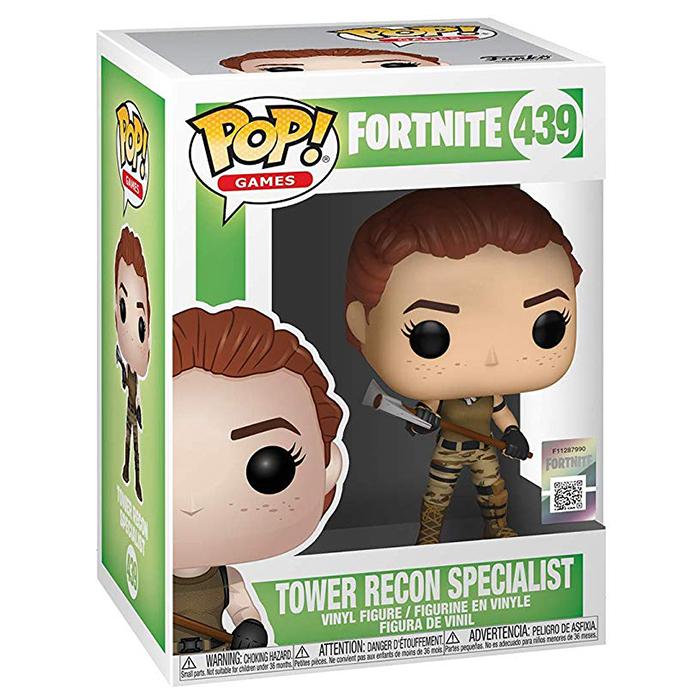 Figura Funko Pop Tower Recon Specialist (Fortnite) en su caja