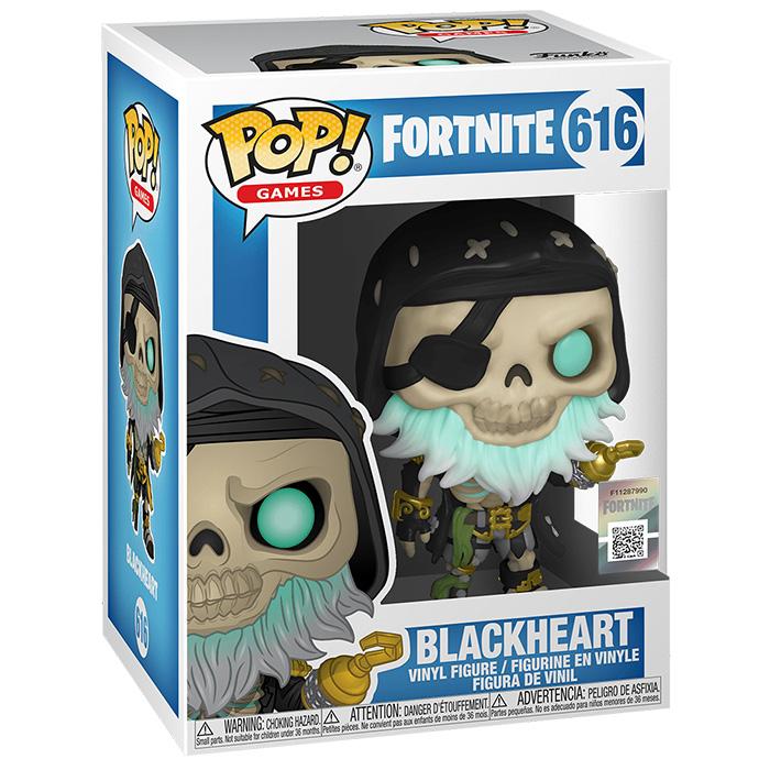 Figura Funko Pop Blackheart (Fortnite) en su caja