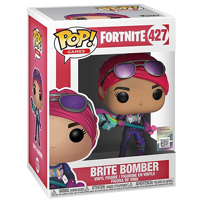 Figura Funko Pop Brite Bomber (Fortnite) en su caja