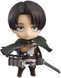 Ataque a los titanes: figura Levi Nendoroid, figura de anime de PVC de 10 CM, decoración del hogar/coche, juguetes, muñeca,...