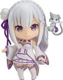 Nendoroid Re:Zero Starting Life in Another World Emilia ABS PVC Action Figure 100mm (Second Release) (Rerelease)